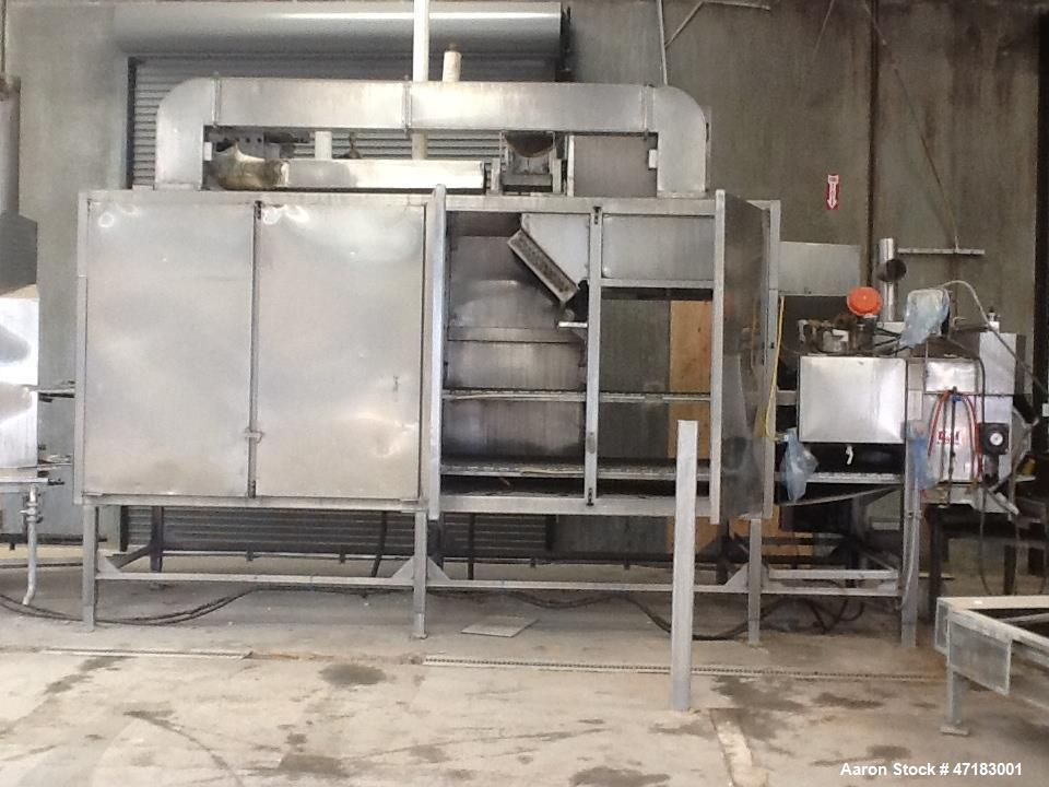 "Used- Lyco Pasteurizer. 48"" wide belt x 82 long. Belt speed 9 FPM. Section #1 to heat 60F product to 130F in 1.5 minutes. Se..."