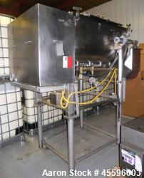 Used-APV Cheese Cooker with Dual Auger Transfer Hopper and Waukesha Centrifugal Pump.