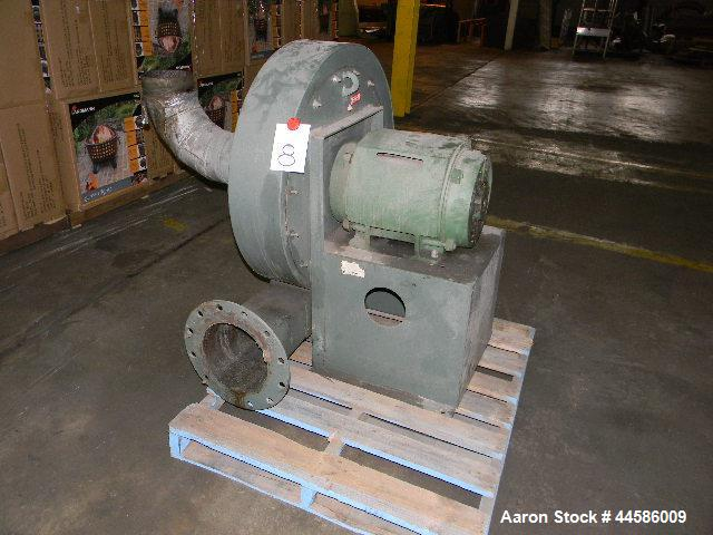 "Used- New York Air Ring Blower, pressure blower, size 2510 Alum, 10"" inlet & outlet, 40 hp (230/460/3/60/3540 rpm)"