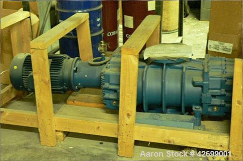 Used-Aerzen Vacuum Blower, Model AMUSA GMA 13.0V-00. 2000 m3/hour, 10 hp Leeson motor, 208/230/480 3 ph.