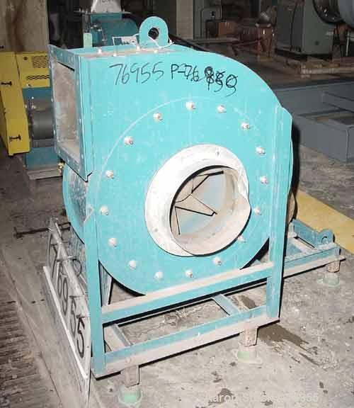 """USED:Air Tech fan, carbon steel, model 191IRO15CW909H. 10-1/2""""diameter inlet. 9"""" x 10"""" outlet. Approx 4200 cfm at 20"""" static..."""