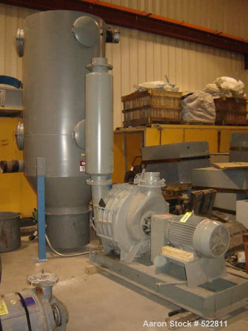 USED: American Vacuum Company model 854-0-0-0-4-0-AD. 50 hp, 3535 rpm,3 phase, 230/460 volt, 1.15 Service Factor. Blower has...