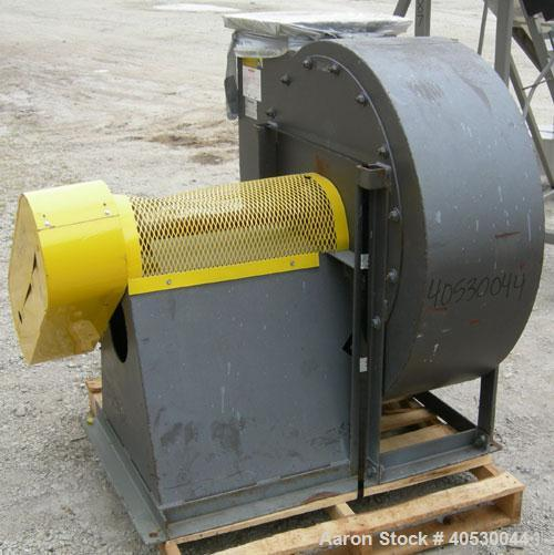 Used- Barry Blower Industrial Centrifugal Fan, size/type 17-OT-CW, carbon steel. Approximately 7314 cfm at 30.07 bhp at 1812...