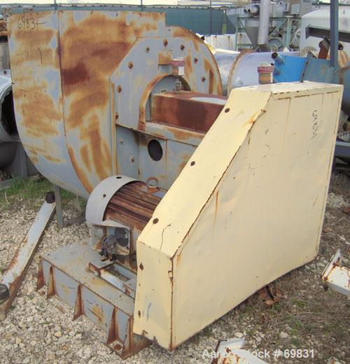 "Used- Bayley Centrifugal Blower, Size BC270, Arrangement 9ZL, Carbon Steel. Approximate 27"" diameter fan, 29"" inlet, 28 1/2""..."