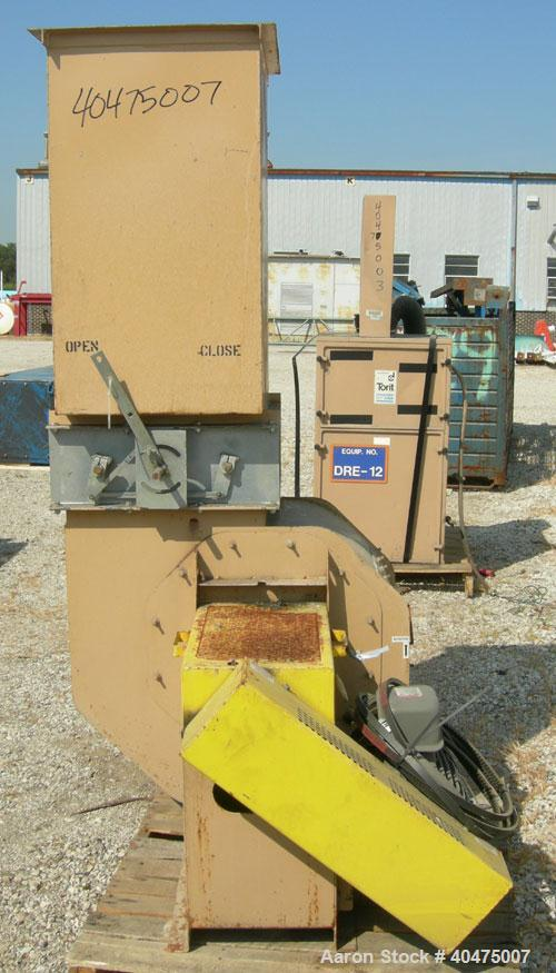 "Used- American Fan Blower, model BCS200, carbon steel. 21"" inlet, 16"" x 20"" outlet. Approximate 18"" diameter fan. Driven by ..."