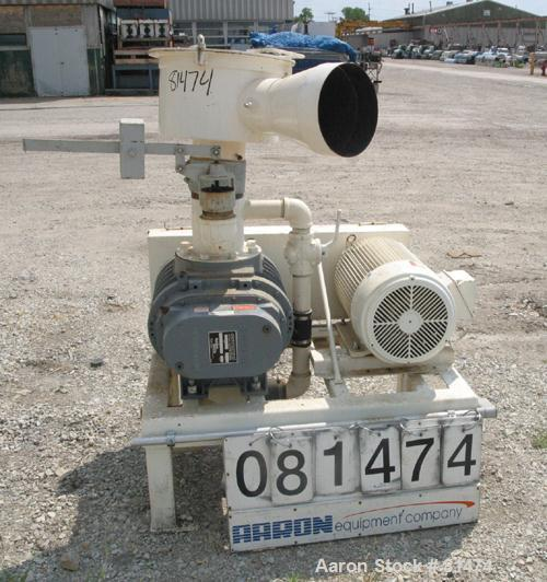 """USED: Boedecker Co blower package consisting of (1) Sutorbilt rotary positive displacement blower, model 6LP, horizontal. 6""""..."""