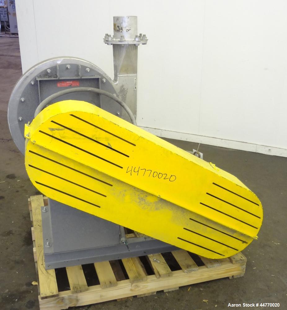 "Used- Cincinnati Fan HP Series High Pressure Blower, Model HP-6C22, Aluminum.  Approximately 1560 cfm at 29"" S.P.  Approxima..."