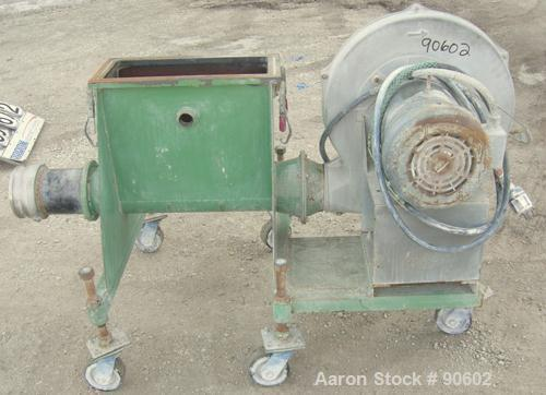 """USED: Cincinnati blower, model PB18, aluminum. Approximate 1520 CFM at 1"""" S.P. 5"""" inlet/outlet. Driven by a 7.5 HP, 3/60/208..."""