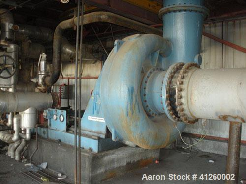 Used-Elliott Blower / Compressor. Inlet volume 40,800 ACFM, inlet temperature 120 deg F, inlet pressure 12.88 psi, discharge...