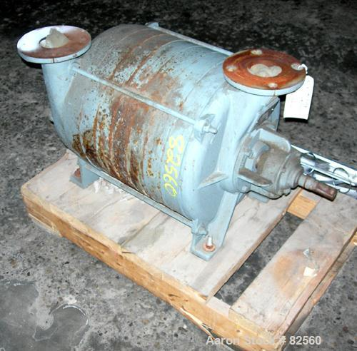 "USED: Gardner Denver multi stage centrifugal blower/exhauster, model 3108-0-8-AB, carbon steel. 3"" inlet/outlet. Approximate..."