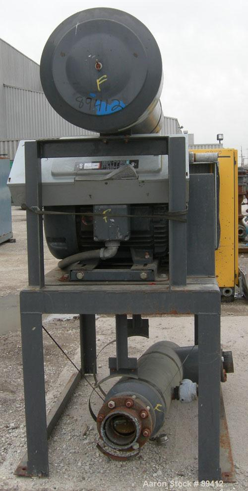 "USED: Gardner Denver Duroflow rotary positive displacement blower,model 4512, horizontal. 6"" diameter NPT inlet/outlet. Appr..."
