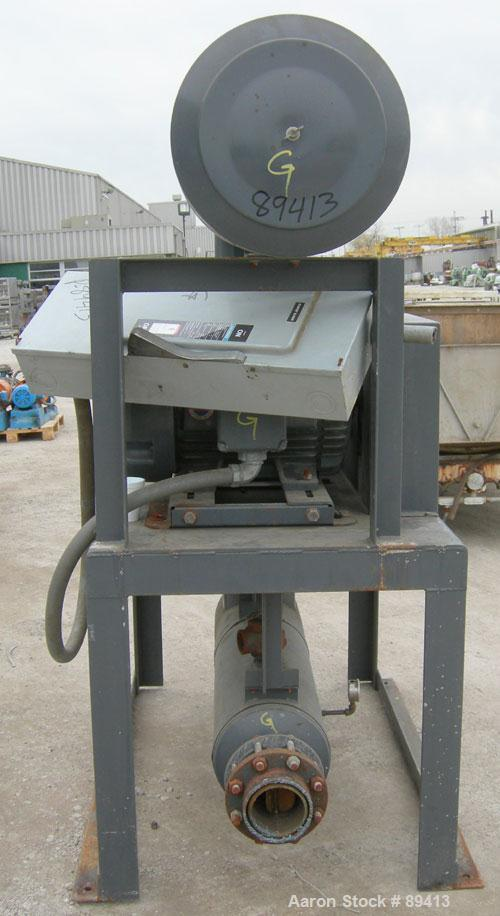 "USED: Gardner Denver Duroflow rotary positive displacement blower,model 4512, horizontal. 6"" diameter NPT inlet/outlet. Appr..."
