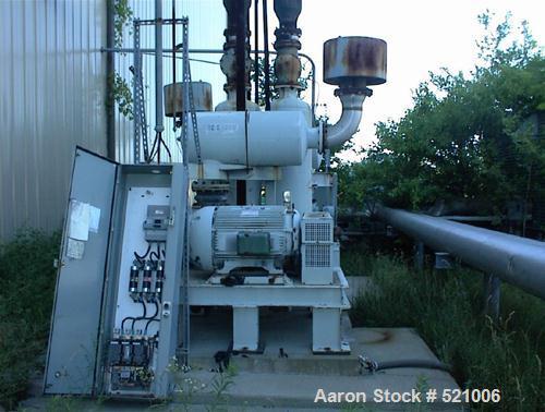 USED: Gardner Denver series 9CDL18 air blower. 200 hp motor. Includesinlet silencer, outlet silencer, belts, expansion joint...