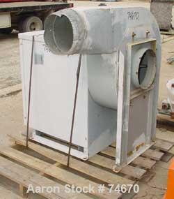 "USED:  Aerovent Centrifugal Blower, Model 500-BW-MHB-1743-5, Type MHB, Carbon Steel.  Approximate 20"" diameter fan.  Rated 3..."