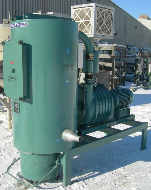 Used- Hoffman Stationary Self-Contained Industrial Vacuum System, Model TVAC-201-S1, Carbon Steel. Consists of: (1) Hoffman ...