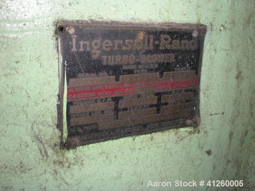 Used-Ingersoll Rand  Blower / Compressor.  Volume 19,730 CFM, Intake 12.92 Lbs. Abs., Discharge Pressure 14.74, Temp 100 deg...