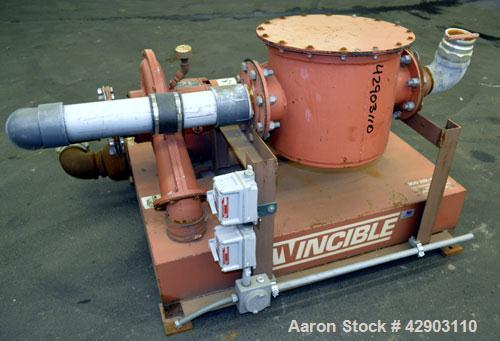 Used- Invincible Air Flow Systems TurboFlow Air Mover, Model 7121/SB, Carbon Steel. Driven by a 15hp motor.
