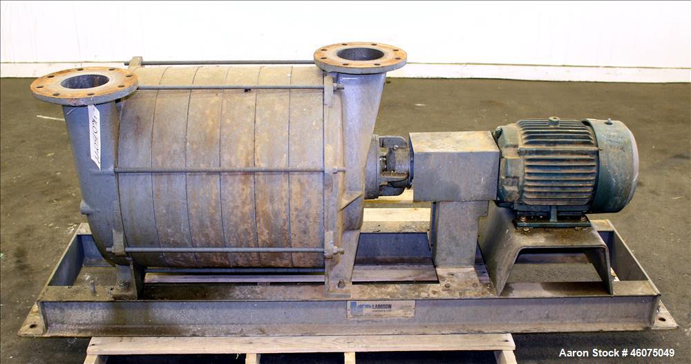 "Used- Lamson Multistage Centrifugal Blower, Model 407-4-3-AD, Carbon Steel. Approximately 210 cfm. 5"" Inlet, 4-1/2"" outlet. ..."