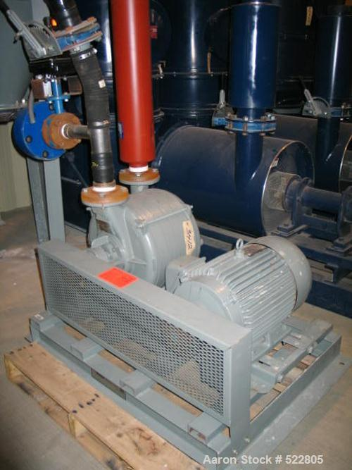 USED: 15 hp Lamson vacuum system Exidust consisting of: bag filterseparator, model 57842333; cyclone separator, model 67842-...