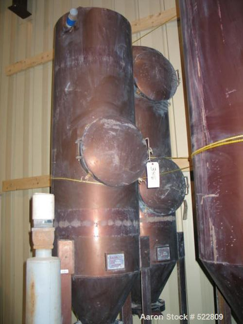 USED: 5 hp Lamson vacuum system consisting of: bag separator, model24X72SEC; cyclone, model 24X72PRI; blower, model 854F-O-4...