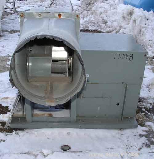 """Used- Loren Cook Blower, Model 180 CAS. Carbon steel housing, aluminum fan blade. Approximate 22-1/2'' inlet,  14"""" x 20"""" dis..."""