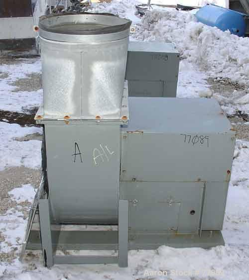 "USED: Loren Cook vertical blower, model MD-180 CAS. Aluminum blade, 14"" x 19"" discharge, 12"" intake, approximate 5 hp drive."