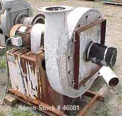 "Used- Luwa Centrifugal High Pressure Blower, Model W-8751-100, 316 Stainless Steel. Approximately 1000 cfm at 20"" H2O. 24"" d..."