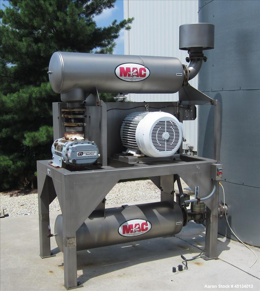 Used- MAC Blower Package, Model 520PKG, with 60 HP Motor, 1780 RPM, 460 volt. With Silencer.