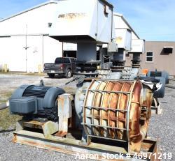 Used- Lamson Blower, Catalog# 866-0-0-0-0-0-6-AD, Carbon Steel. Driven by a 150hp, 3/60/460 volt, 3600 rpm XP motor. Mounted...