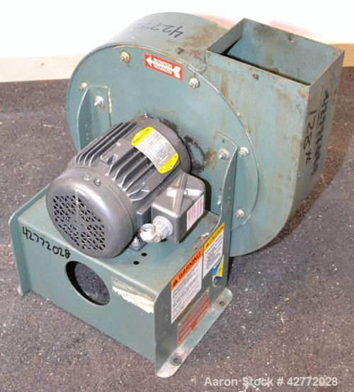 "Used- New York Blower Compact GI Fan, Size 146 UNIV, Carbon Steel. Approximately 1,000 CFM at 14"" S.P. at3500 RPM. 8'' Diame..."