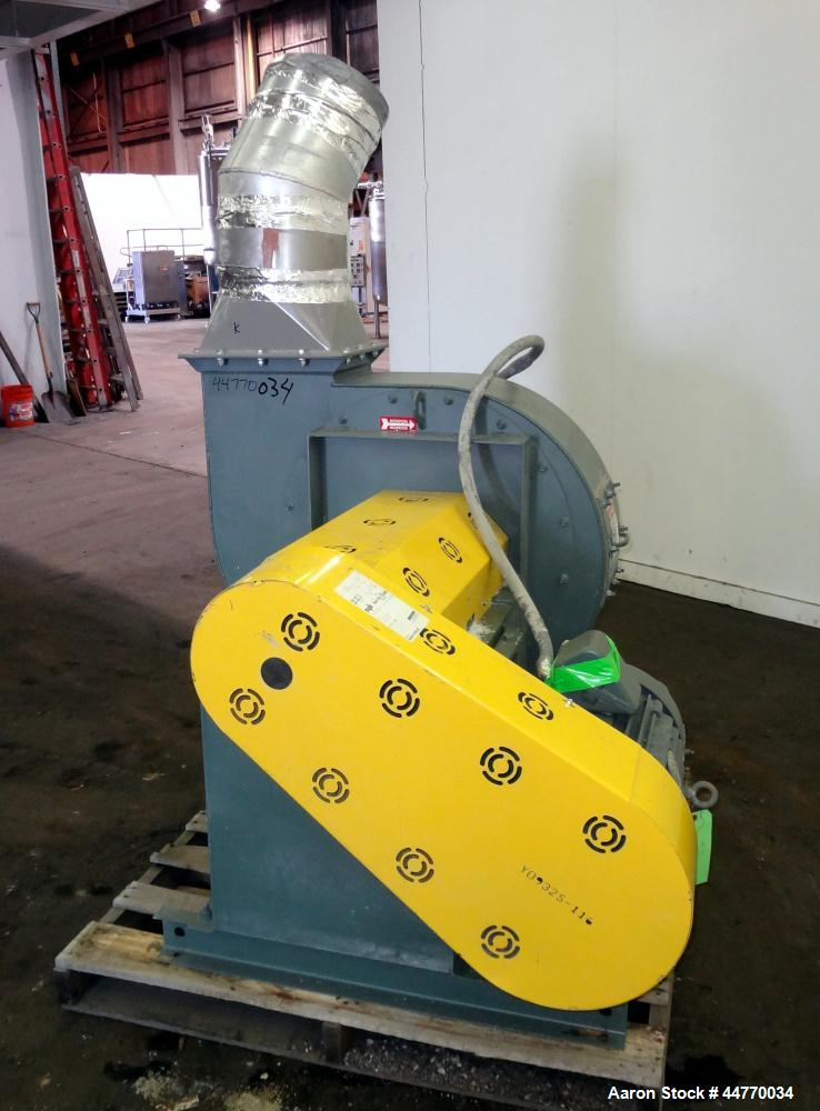 "Used- New York Blower Series 30 GI Fan, Size 224 LS, Carbon Steel.  Approximately 3200 cfm at 18"" S.P. at 2561 rpm. Approxim..."
