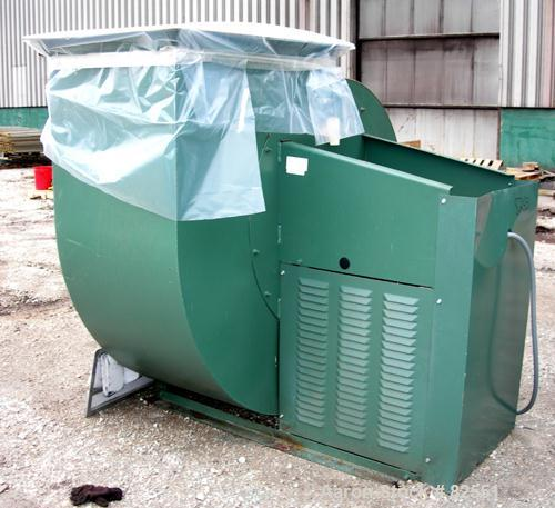 "USED: New York Blower general purpose fan, size 36PLR, carbon steel. Approximately 23,000 cfm at 8"" S.P. at 1342 rpm. 40"" di..."