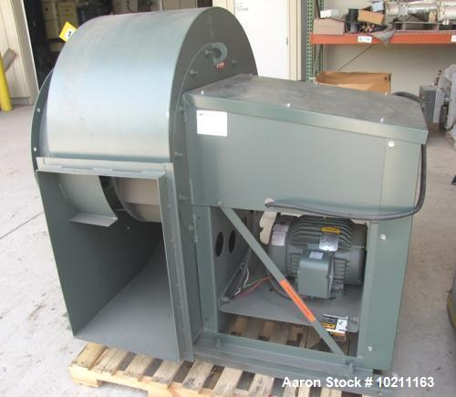 Unused-New York Blower rated 10,000 cfm.  Includes a quick opening style cleanout door.  Driven by a 10 hp, 3/60/230/460 vol...