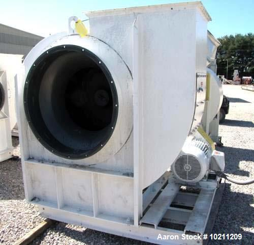 """Used- 19,000 CFM at 9"""" SP New York Blower Tadial Tipped fan Size 407 RTS. 50 hp Reliance electric motor, 1775 rpm, 230/460 v..."""