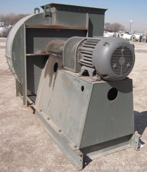 "Used- New York Blower Fan, Type PLR, Size 26 IV, Carbon Steel. Approximately 40"" diameter fan, 40"" diameter front inlet, 40""..."