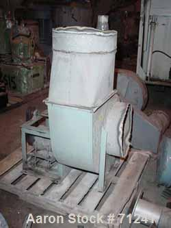 "Used- Centrifugal Fan, Carbon Steel. 16"" diameter inlet, 12"" x 16"" outlet, approximate 16"" diameter wheel. Driven by an appr..."