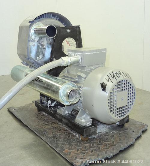 Used- Tawi Vacuum Pump, Model SA 350/2, Carbon Steel. Driven by a 3.45kw, 3/60/460 volt, 3485 rpm motor. Last used with a va...