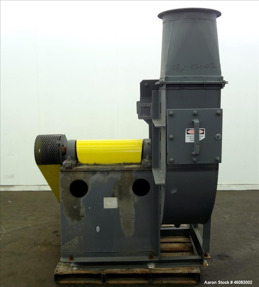 "Used- Phelps Fan, Model 33431WRM, Carbon Steel. 17"" Diameter inlet, 17"" x 14"" outlet. Driven by a 60 hp, 3/60/460/1780 rpm m..."