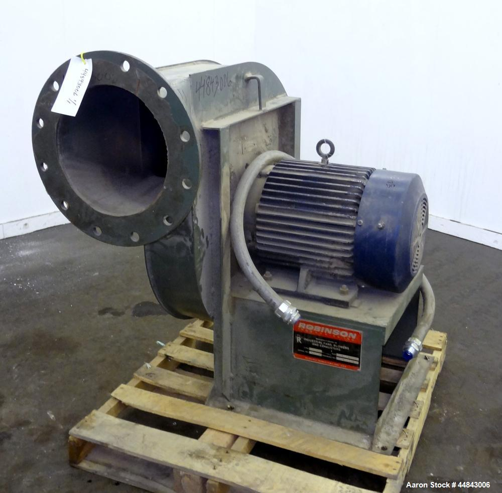 "Used- Robinson Industries Pressure Blower, Type RL, Size 40-18, Drawing #CA4018-2F-FI-R0, Carbon Steel.  14"" Diameter inlet ..."