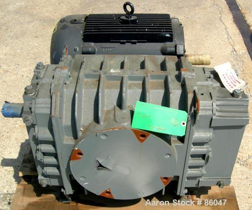 "Unused-UNUSED: Roots Ram Whispair rotary positive gas blower, model 616J. Approx capacity 450 cfm at 11 bhp at 4 psi. 6"" inl..."