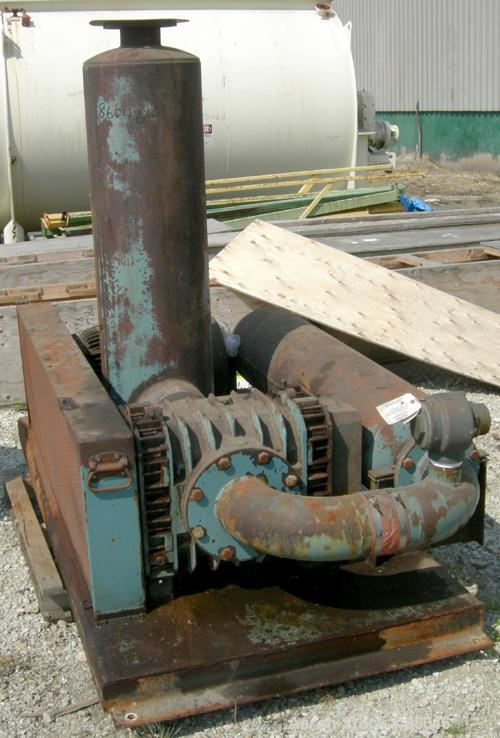 """USED: Roots Ram Whispair rotary positive gas blower, model 616JVRCS. Approximate capacity 450 cfm at 11 bhp at 4 psi. 6"""" inl..."""