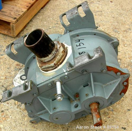 "USED: Roots rotary positive displacement blower, model 68URAI.Approximate capacity 515 cfm at 38.2 bhp at 12 psi. 4"" NPT inl..."