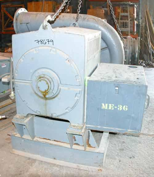 "Used- Roots High Pressure Blower, Model MVI-14, Carbon Steel. 33"" Diameter impeller, 18"" inlet, 14"" outlet. Rated approximat..."