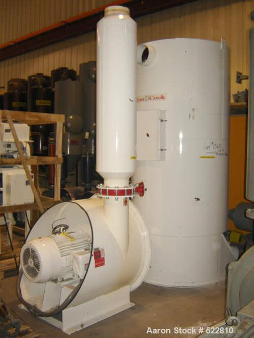 """USED: 60 hp central vacuum cleaning system manufactured by Ross & Cooke. Unit contains 43 filters 6"""" diameter x 63"""" long, mo..."""