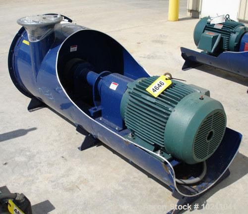 Used-875 cfm at 7.6 in hg vacuum 40 hp Spencer Model 30206B1 multi-stage centrifugal blower. Unit is rated for 1,175 icfm @ ...