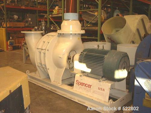 USED: Spencer Power Mizer vacuum producer, model C63R. Multi-stage centrifugal exhauster with 250 hp, 3570 rpm, 3 phase, 60 ...