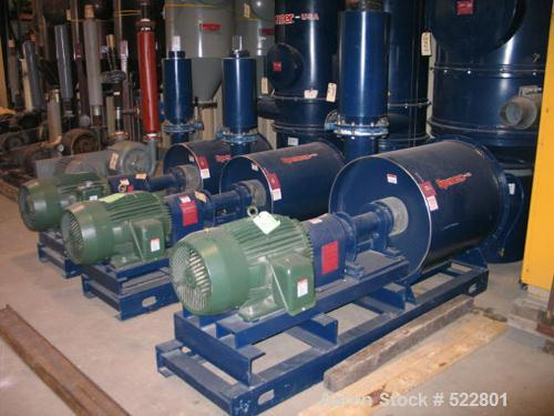 "USED: 50 hp Spencer central vacuum system consisting of: Spencer vacuum producer (blower) rated 1200 cfm (800 scfm) at 10.0""..."