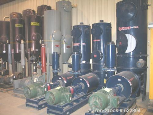 "USED: 40 hp Spencer central vacuum system consisting of: Spencer vacuum producer (blower) rated 604 cfm (400 scfm) at 10.0"" ..."