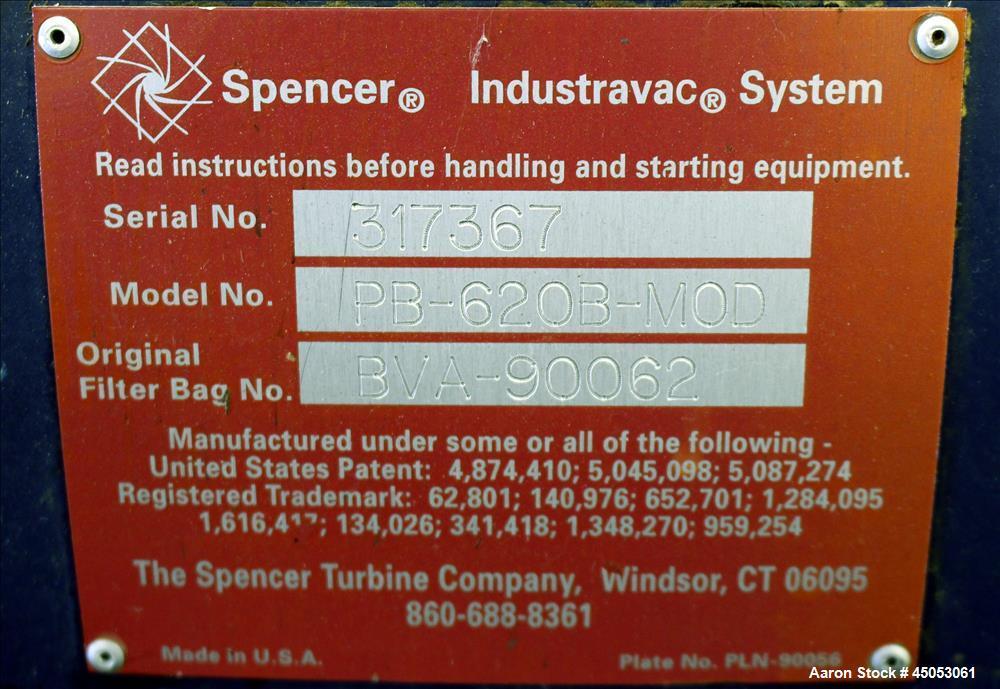 Used- Spencer Turbine Blower, Model PB-620B-MOD