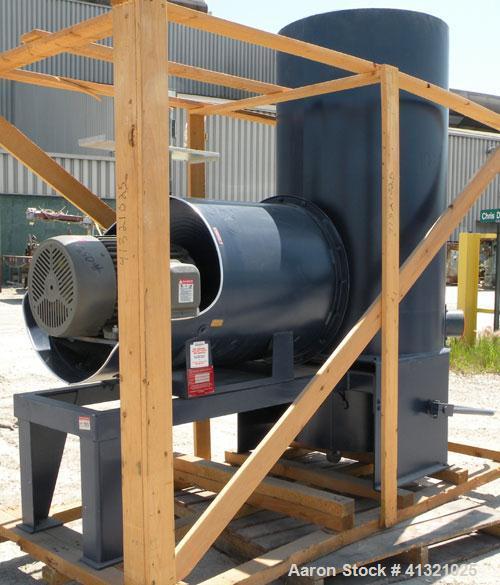 "Used- Spencer Turbine Industravac Stationary Vacuum System, model SB-515B, carbon steel. (19) 5"" diameter x 36"" long bags pr..."